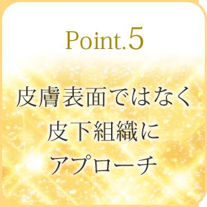 Point5:皮膚表面ではなく皮下組織にアプローチ